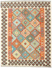 Kelim Afghan Old Style Matto 157X201 Itämainen Käsinkudottu Beige/Oranssi (Villa, Afganistan)
