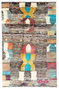 Moroccan Berber - Afghanistan Matto 112X173 Moderni Käsinsolmittu Vaaleanharmaa/Keltainen (Villa, Afganistan)
