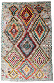 Moroccan Berber - Afghanistan Matto 116X182 Moderni Käsinsolmittu Vaaleanharmaa/Tummanruskea (Villa, Afganistan)