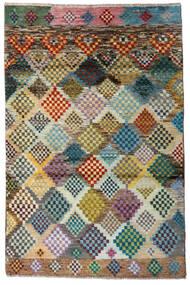Moroccan Berber - Afghanistan Matto 118X179 Moderni Käsinsolmittu Vaaleanharmaa/Tummanharmaa (Villa, Afganistan)