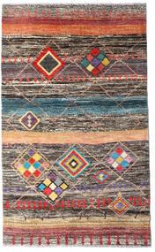 Moroccan Berber - Afghanistan Matto 112X184 Moderni Käsinsolmittu Tummanharmaa/Vaaleanharmaa (Villa, Afganistan)