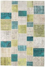 Patchwork - Turkiet Matto 198X296 Moderni Käsinsolmittu Tummanbeige/Vaaleanharmaa (Villa, Turkki)