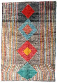 Moroccan Berber - Afghanistan Matto 149X216 Moderni Käsinsolmittu Tummanharmaa/Vaaleanharmaa (Villa, Afganistan)