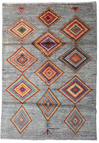 Moroccan Berber - Afghanistan Matto 125X178 Moderni Käsinsolmittu Vaaleanharmaa/Tummanharmaa (Villa, Afganistan)