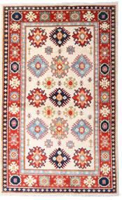 Kazak Matto 93X152 Itämainen Käsinsolmittu Beige/Vaaleanpunainen (Villa, Afganistan)