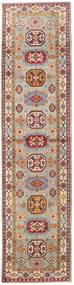 Kazak Matto 86X349 Itämainen Käsinsolmittu Käytävämatto Vaaleanruskea/Vaaleanharmaa (Villa, Afganistan)
