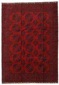 Afghan Matto 206X288 Itämainen Käsinsolmittu Tummanpunainen/Punainen (Villa, Afganistan)
