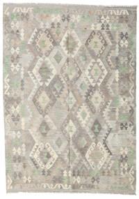 Kelim Afghan Old Style Matto 176X246 Itämainen Käsinkudottu Vaaleanharmaa/Tummanbeige (Villa, Afganistan)
