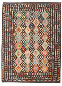 Kelim Afghan Old Style Matto 213X289 Itämainen Käsinkudottu Tummanharmaa/Tummanruskea (Villa, Afganistan)