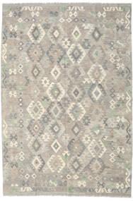 Kelim Afghan Old Style Matto 199X292 Itämainen Käsinkudottu Vaaleanharmaa (Villa, Afganistan)