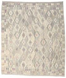 Kelim Afghan Old Style Matto 264X302 Itämainen Käsinkudottu Vaaleanharmaa/Beige Isot (Villa, Afganistan)