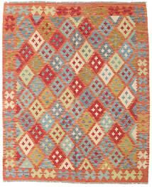 Kelim Afghan Old Style Matto 152X185 Itämainen Käsinkudottu Punainen/Vaaleanvihreä (Villa, Afganistan)