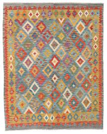 Kelim Afghan Old Style Matto 151X191 Itämainen Käsinkudottu Tummanbeige/Tummanharmaa (Villa, Afganistan)