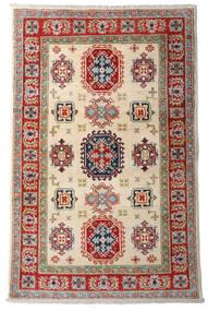Kazak Matto 92X144 Itämainen Käsinsolmittu Tummanpunainen/Beige (Villa, Afganistan)
