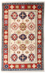 Kazak Matto 95X154 Itämainen Käsinsolmittu Beige/Tummanruskea (Villa, Afganistan)