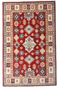 Kazak Matto 93X152 Itämainen Käsinsolmittu Tummanpunainen/Beige (Villa, Afganistan)