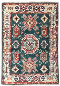 Kazak Matto 87X126 Itämainen Käsinsolmittu Sininen/Beige (Villa, Afganistan)