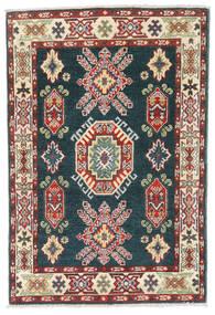 Kazak Matto 81X121 Itämainen Käsinsolmittu Tummanharmaa/Vaaleanruskea (Villa, Afganistan)