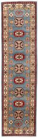 Kazak Matto 81X309 Itämainen Käsinsolmittu Käytävämatto Tummanpunainen/Sininen (Villa, Afganistan)