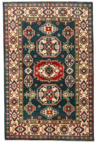 Kazak Matto 120X184 Itämainen Käsinsolmittu Tummansininen/Tummanpunainen (Villa, Afganistan)