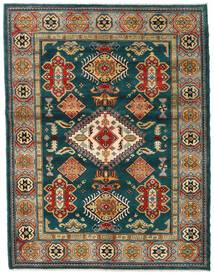 Kazak Matto 155X203 Itämainen Käsinsolmittu Tummanvihreä/Tummansininen (Villa, Afganistan)