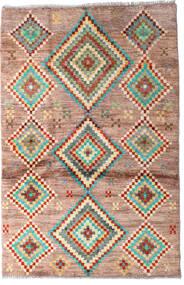 Moroccan Berber - Afghanistan Matto 91X138 Moderni Käsinsolmittu Tummanruskea/Tummanpunainen (Villa, Afganistan)