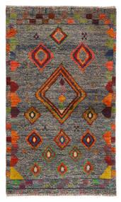 Moroccan Berber - Afghanistan Matto 85X144 Moderni Käsinsolmittu Musta/Vaaleanharmaa (Villa, Afganistan)