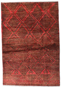 Moroccan Berber - Afghanistan Matto 95X139 Moderni Käsinsolmittu Tummanpunainen/Tummanruskea (Villa, Afganistan)