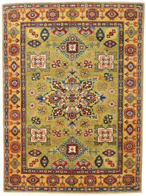Kazak Matto 150X203 Itämainen Käsinsolmittu Oliivinvihreä/Beige (Villa, Afganistan)