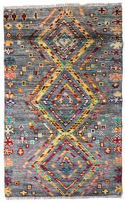 Moroccan Berber - Afghanistan Matto 84X135 Moderni Käsinsolmittu Tummanharmaa (Villa, Afganistan)