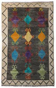 Moroccan Berber - Afghanistan Matto 84X134 Moderni Käsinsolmittu Tummanharmaa/Vaaleanharmaa (Villa, Afganistan)