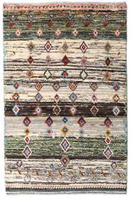 Moroccan Berber - Afghanistan Matto 88X135 Moderni Käsinsolmittu Beige/Tummanharmaa (Villa, Afganistan)
