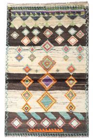 Moroccan Berber - Afghanistan Matto 87X138 Moderni Käsinsolmittu Beige/Tummanruskea (Villa, Afganistan)