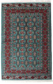 Turkaman Matto 140X208 Itämainen Käsinsolmittu Musta/Tummanvihreä (Villa, Persia/Iran)