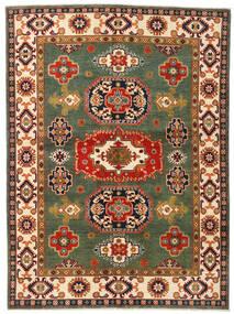 Kazak Matto 155X211 Itämainen Käsinsolmittu Tummanvihreä/Punainen (Villa, Afganistan)