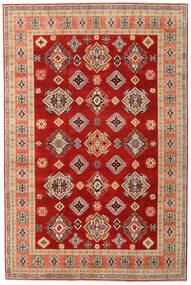 Kazak Matto 200X303 Itämainen Käsinsolmittu Ruoste/Tummanpunainen (Villa, Afganistan)