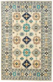 Kazak Matto 201X311 Itämainen Käsinsolmittu Vaaleanharmaa/Beige (Villa, Afganistan)