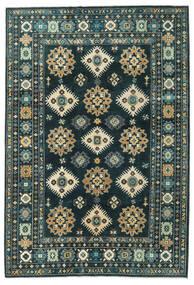 Kazak Matto 203X298 Itämainen Käsinsolmittu Tummansininen/Tumma Turkoosi (Villa, Afganistan)