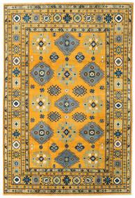 Kazak Matto 199X296 Itämainen Käsinsolmittu Oranssi/Tummanharmaa (Villa, Afganistan)