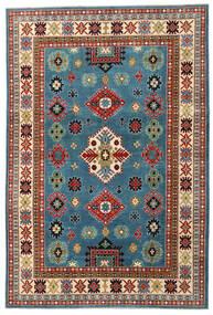 Kazak Matto 204X303 Itämainen Käsinsolmittu Tummanpunainen/Tummansininen (Villa, Afganistan)