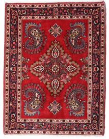 Hamadan Shahrbaf Matto 73X95 Itämainen Käsinsolmittu Tummanpunainen/Tummanruskea (Villa, Persia/Iran)