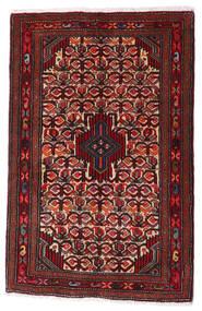 Asadabad Matto 62X96 Itämainen Käsinsolmittu Tummanpunainen/Tummanruskea (Villa, Persia/Iran)