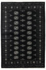 Pakistan Bokhara 2Ply Matto 139X208 Itämainen Käsinsolmittu Musta/Tummanharmaa (Villa, Pakistan)
