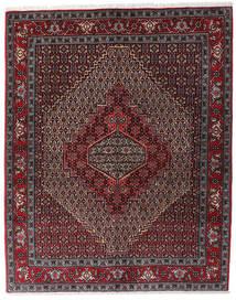 Senneh Matto 123X154 Itämainen Käsinsolmittu Tummanpunainen/Tummanruskea/Tummanharmaa (Villa, Persia/Iran)