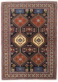 Ardebil Matto 138X191 Itämainen Käsinsolmittu Tummanruskea/Tummanpunainen (Villa, Persia/Iran)