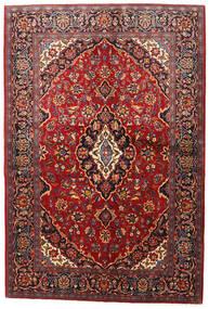 Keshan Matto 142X210 Itämainen Käsinsolmittu Tummanpunainen/Tummanruskea (Villa, Persia/Iran)