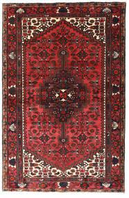 Hamadan Matto 130X200 Itämainen Käsinsolmittu Tummanpunainen/Musta (Villa, Persia/Iran)