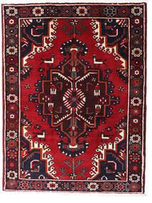 Hamadan Matto 120X158 Itämainen Käsinsolmittu Musta/Tummanpunainen (Villa, Persia/Iran)