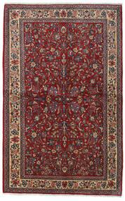 Sarough Sherkat Farsh Matto 135X212 Itämainen Käsinsolmittu Tummanpunainen/Tummanharmaa (Villa, Persia/Iran)
