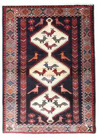 Hamadan Matto 108X148 Itämainen Käsinsolmittu Musta/Tummanpunainen (Villa, Persia/Iran)